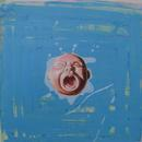 "Cry Baby, 12"" x 12"", acrylic on mylar, by Mary Lottridge"