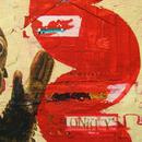 "Two Monkeys, 16"" x 45"", acrylic and mixed media on paper by Mary Lottridge"