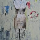 "Dressmaker Form 2, 40"" x 60"", acrylic on wood cradle"