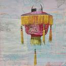 Fringed Lantern 3, 30x22, acrylic on paper